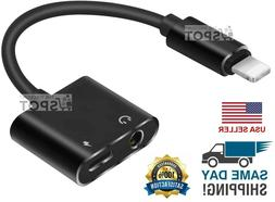 2 in 1 Lightning to 3.5mm Headphone And Charger Splitter AUX