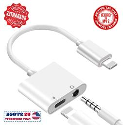 2 in 1 Lightning to 3.5mm Headphone and Charger Splitter For