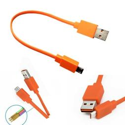 20cm Micro USB Fast Charger Flat Cable Cord For JBL Flip 3 F