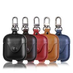 For Apple Air Pods Airpod Keychain Leather Earphone Headset