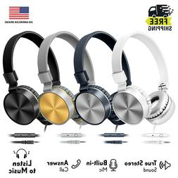 Art+Sound Metallic On-Ear Wired Headphones with Built-In Mic