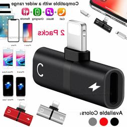 Dual Adapter Converter Charger&Headphone Jack for iPhone 7 8