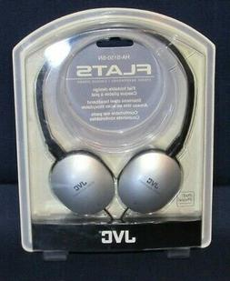 JVC FLATS HA-S150-SN Over the Ear Headphones, Silver, New in