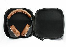 Hard Leather Carrying Case for Over-Ear Headphones Full Size