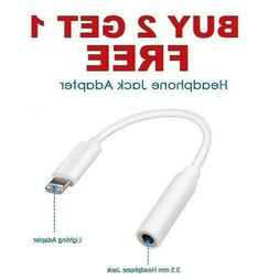 Headphone AUX Adapter Jack Lightning to 3.5mm Cord Dongle iP