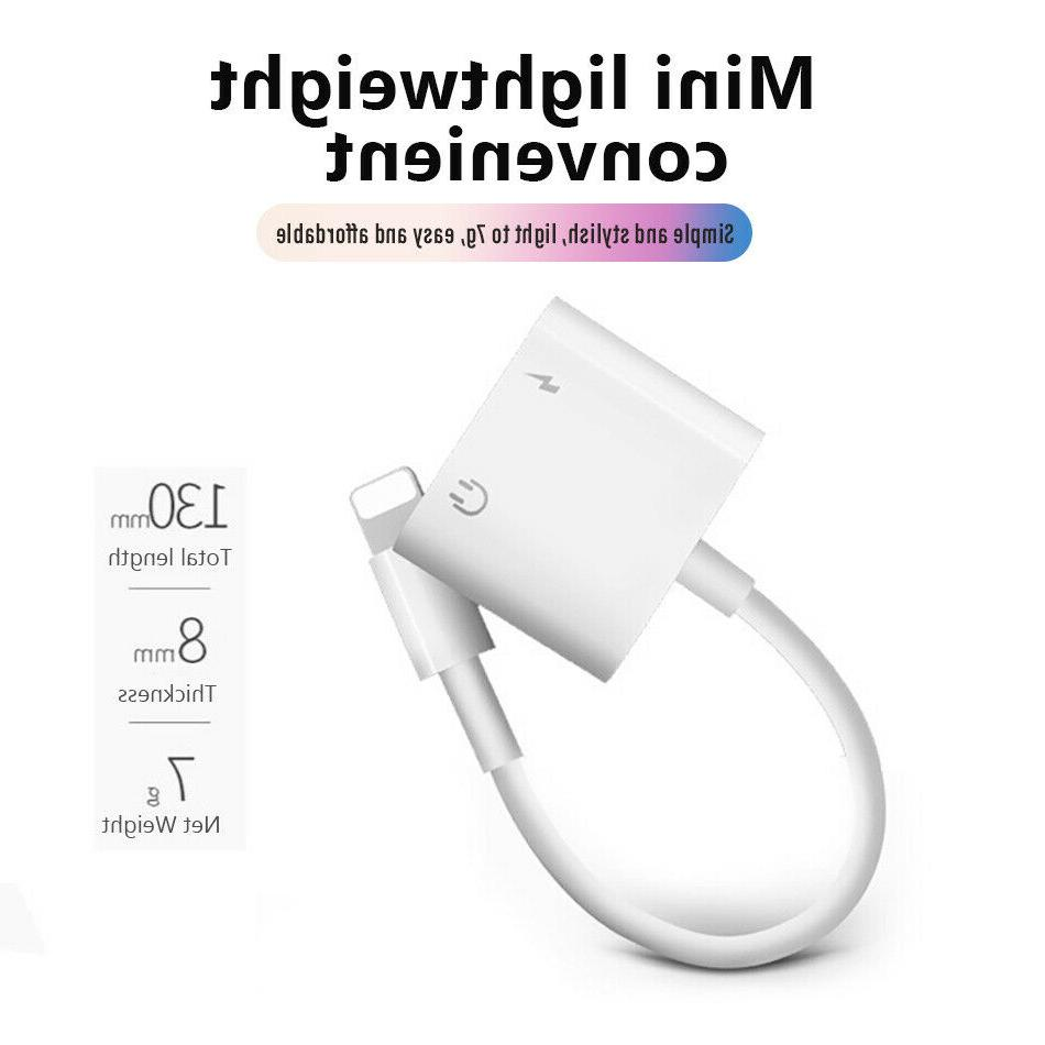Apple lightning to 3.5mm AUX Adapter Cable Audio iphone