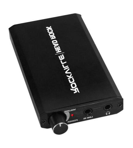 headrock battery powered rechargeable personal headphone amp