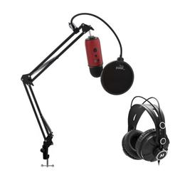 Blue Microphones Yeti Red USB Microphone with Knox Studio St