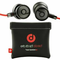 NEW BLACK/ SILVER urBeats by Dr Dre Earbuds with Mic In-Ear