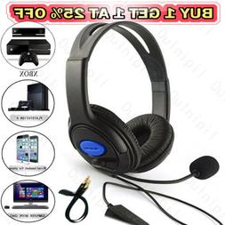 NEW Wired Gaming Headphones Over Ear Headset Earphone With M