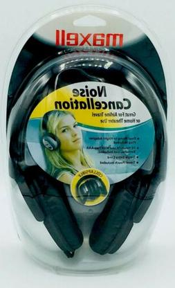MAXELL 'NOISE CANCELLATION' COLLAPSIBLE AIRLINE TRAVEL & HOM