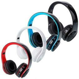 Wireless Stereo Foldable Headphones Mic for iPhone PC Comput