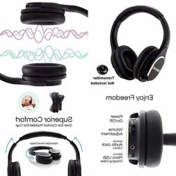 Wireless RF Headphones For TV Watching Over Ear Stereo Heads